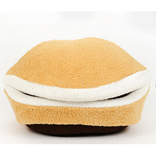 Best Selling Kitty Hamburger Litter Disassemblability Windproof Pet Nest Shell Cat Bed Hiding Burger Bun Pet Cat Bed