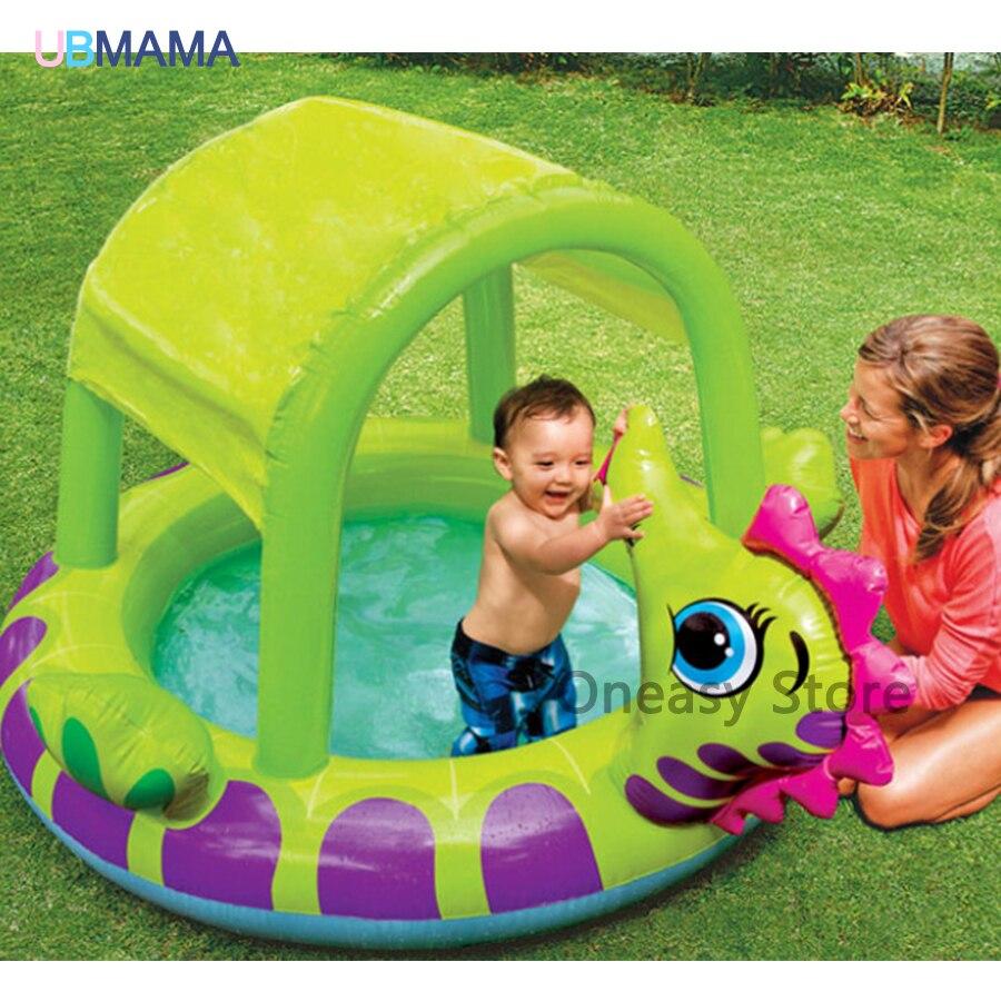 High Quality Cute Dinosaur Shape Inflatable Swimming Pool Baby Play Pool Baby Bathtub Ball Pool 229*165*117CM
