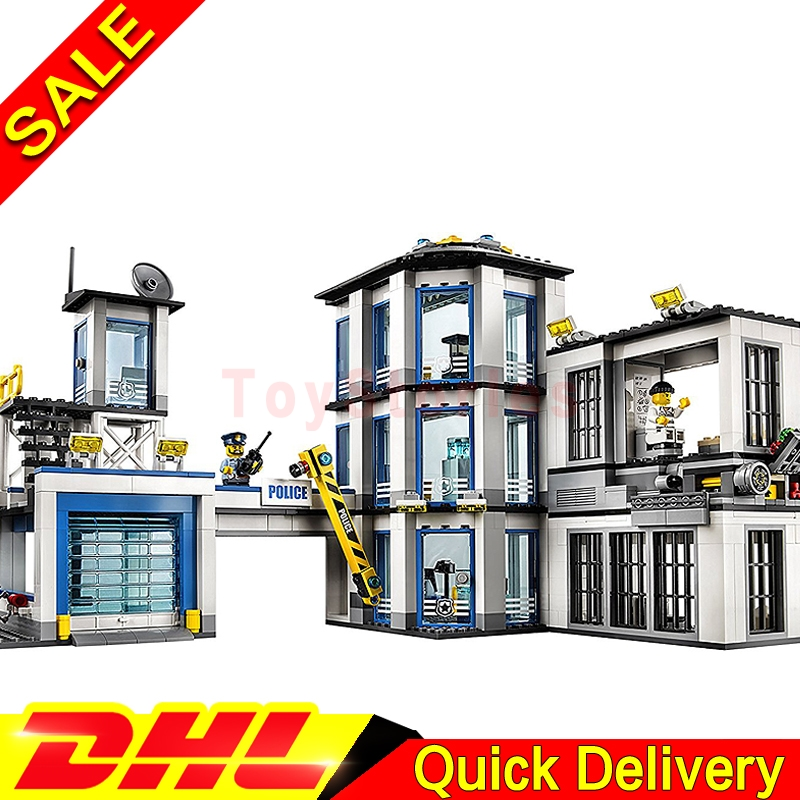 Lepin 02020 City Series Police Station children Educational Building Blocks Bricks Model legoings Toys Gift Clone 60141 dhl lepin 02020 965pcs city series the new police station set model building set blocks bricks children toy gift clone 60141