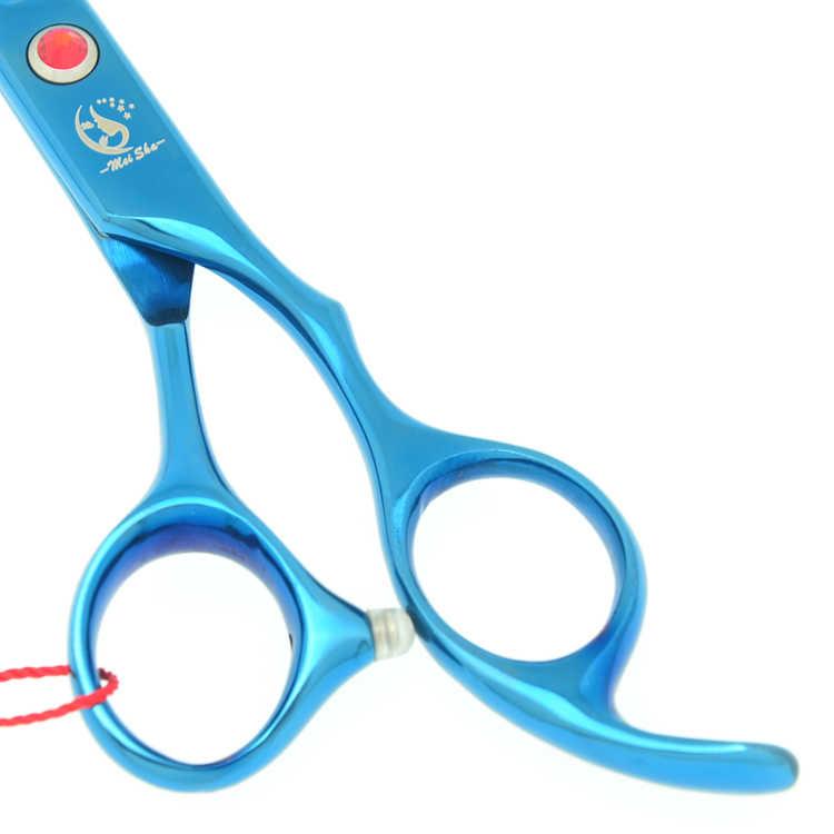 7,0 дюймов Большой Профессиональные Парикмахерские ножницы 6,5 дюймов филировочные ножницы Салон Парикмахерская JP440C голубые волосы Tesouras HA0364