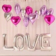 5/10/20pcs 18 inch Love Foil Heart Helium Balloons Wedding decor i love you marriage Globos orbs Birthday Party Supplies
