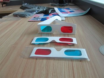 10000pic 3d wall paper 3d glasses anaglyph glasses red Blue for movies with high quality and free shipping 1
