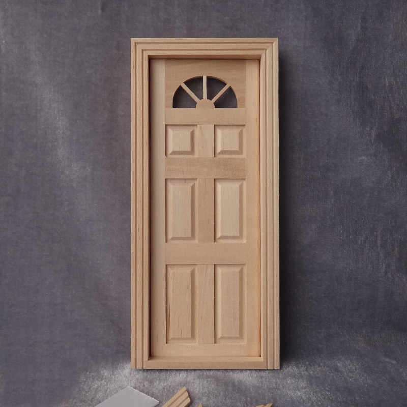 Superieur New Arrival 1:12 Scale Dollhouse Miniature Door Model DIY Doll House Wooden  Furniture Accessories