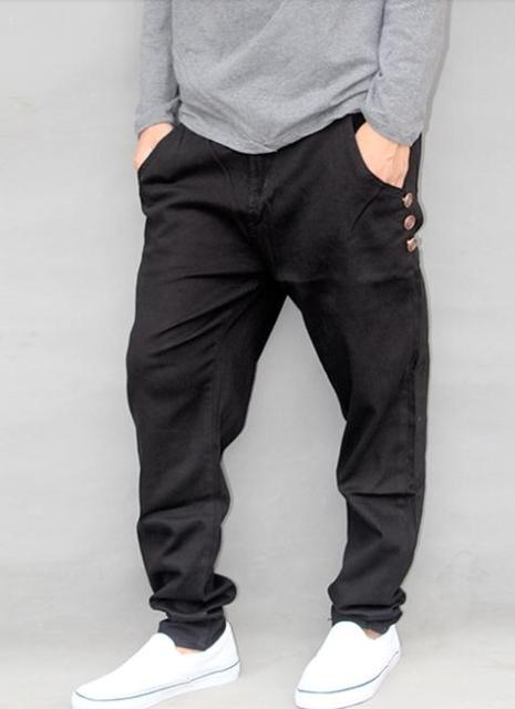 New Autumn winter leisure Harem Pants Men Loose Big Size Black pencil tapered pants Cotton stretch pants 4XL 5XL #6570