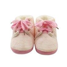 Newborn First Walkers Baby Boys Girls Shoes Winter Warm Booties For Newborns Infant Bebe Prewalkers Toddler Baby Striped Boots стоимость