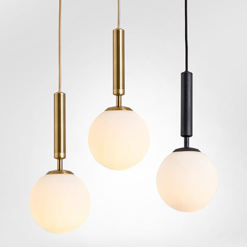Modern Simple Nordic Glass Ball Ins Chandelier Creative Personality Bedroom Bedside Bar Restaurant Decoration Lamp Free Shipping