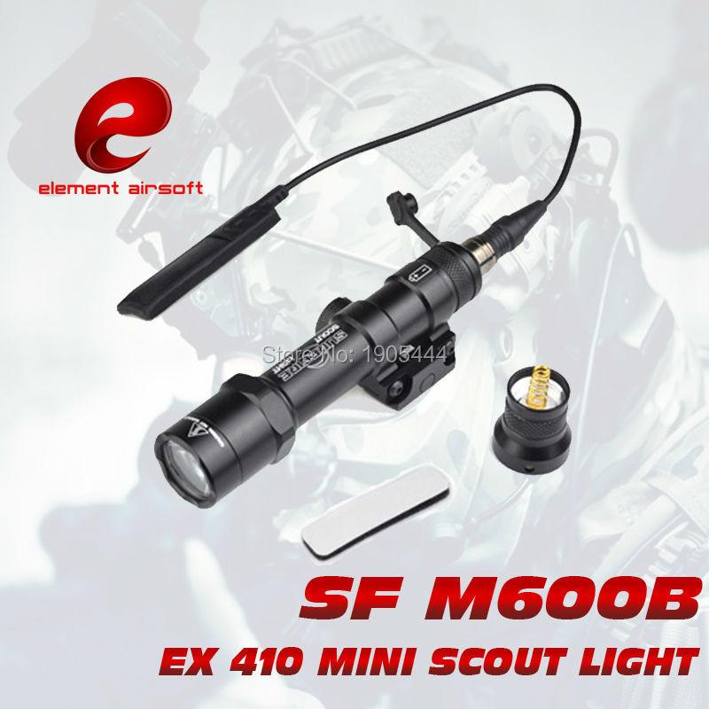 Élément Surefir M600B LED Mini Scout arme lumière pour Airsoft pistolet pistolet Lampe de poche gaufen Arma Lampe fusil de chasse Wapen lumière