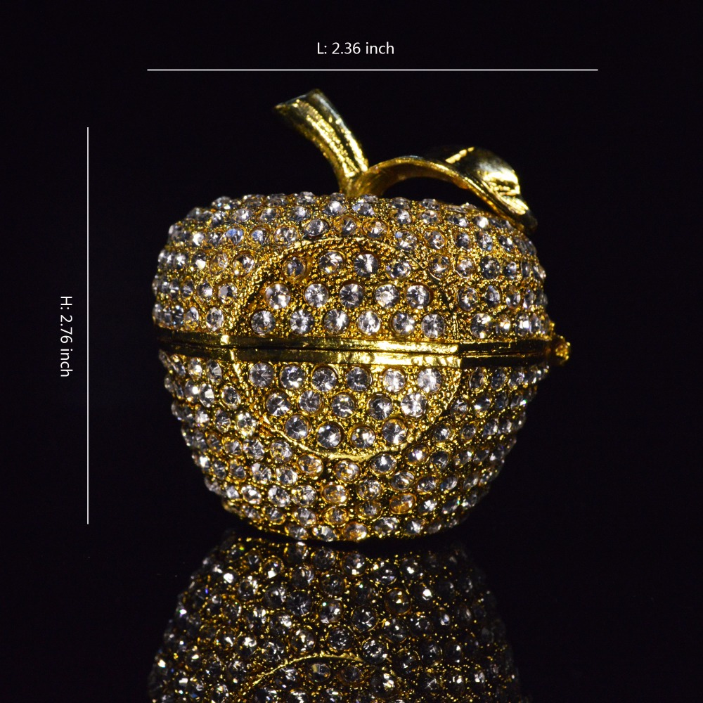 QIFU New Arrive Metal Golden Apple Shape Room Decoration To Store Small Jewelry