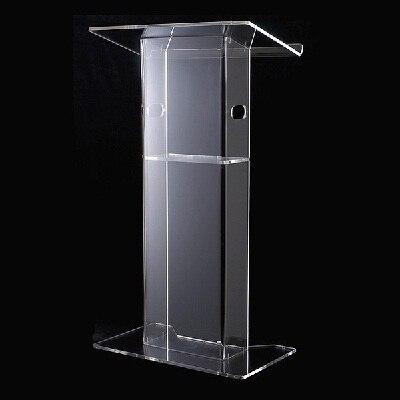 Transparent 12mm Plexiglass Pulpit,Acrylic Lectern,Acrylic Church Podium Stand
