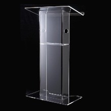 Transparent 12mm Plexiglass Pulpit,Acrylic Lectern,Acrylic Church Podium Stand(China)