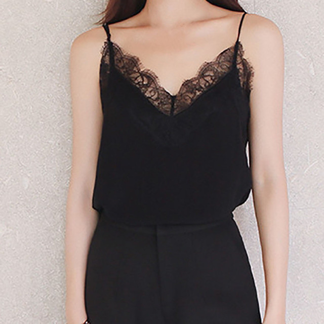 Casual Sexy Lace Sleeveless Vest Shirt Tank Blouse Tops