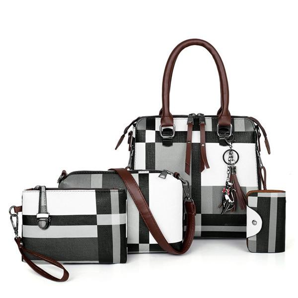 Handbags Plaid Women Bags...