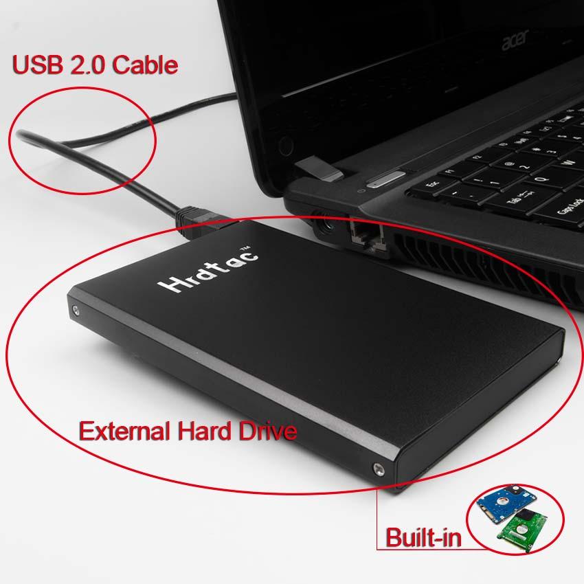 External Hard Drive Disk Extern USB 2 0 HDD Esterno Portable Hard Drive Hrdtac 80GB for