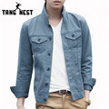 TANGNEST Veste Homme 2017 Hot Selling Fashion Casual Men Jacket 8 Solid Colors Single Breasted Turn-down Collar Jackets MWJ2024