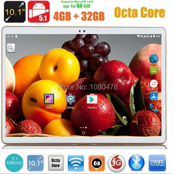 10 inch tablet PC 4G LTE Octa Core Android 5.1 IPS 4GB RAM 32GB ROM GPS 5.0MP 3G WCDMA tablets +gifts