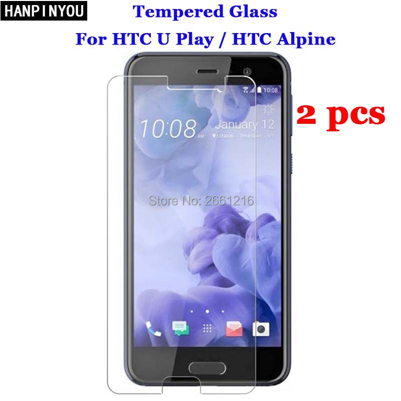 2 Pcs/Lot For HTC U Play Tempered Glass 9H 2.5D Premium Screen Protector Film For HTC U Play / HTC Alpine 5.2