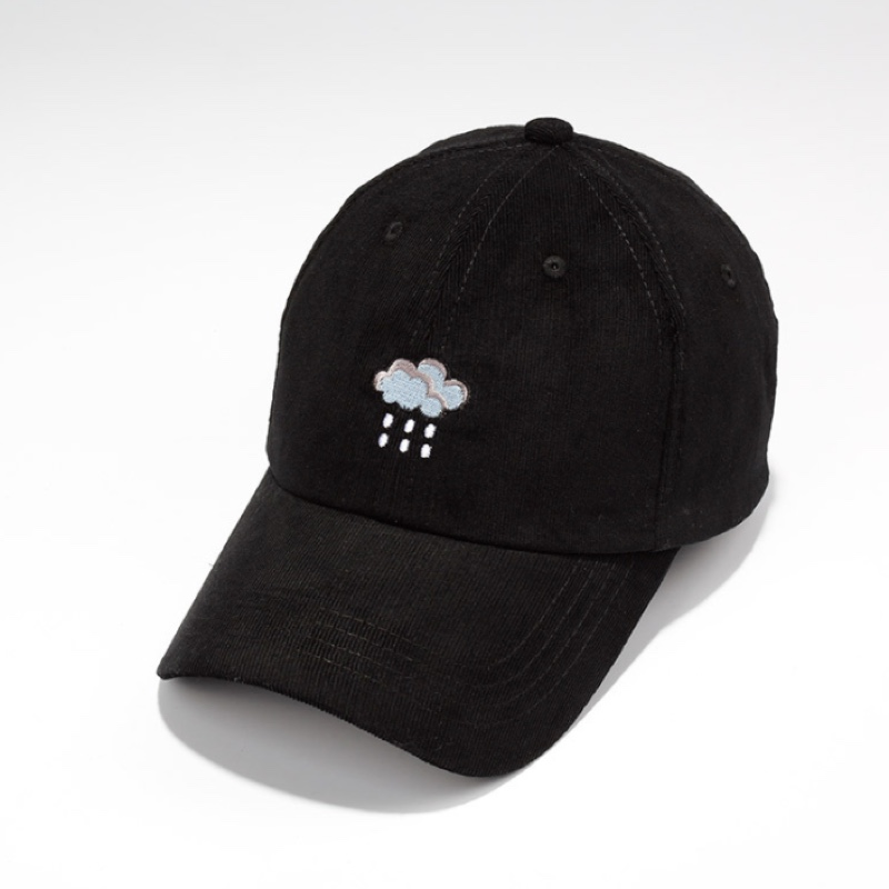 Rain Clouds Embroidery Women Baseball Cap Dad Hat Street Casual Cap Summer  Black and White Cap Female Bones-in Baseball Caps from Apparel Accessories  on ... f215e0a067d