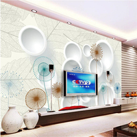 Papel De Parede Custom Photo Wallpaper Mural Wall Sticker Dandelion 3D 3D TV Wall Wallpaper For