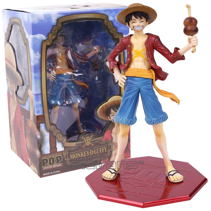 Anime One Piece Portrait of Pirates POP Monkey D Luffy PVC Figure Collectible Model Toy 23cm цена