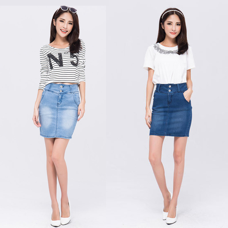 Aliexpress.com : Buy Summer 2015 Casual Denim Skirt New Design ...