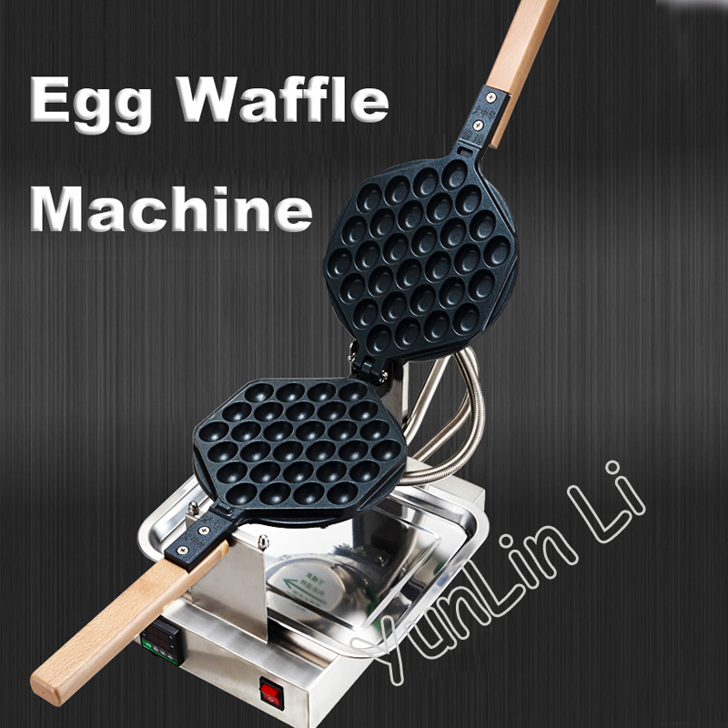 Commercial Egg Waffle Maker 220V/110V Egg Waffle Machine HK Style Egg Puff Maker Control Egg Waffle Machine hk-2008a 2015 alkaline water ionizer machine hk 8018 with 110v 220v english version