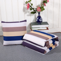 Plaid Stripe Multifunction Back Throw Pillow Quilt Cushion Blanket 3 In 1 Office Rest Chaise Lounge