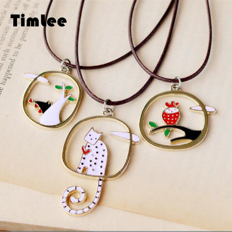 Grace Fashion Metal Dragon Skull Skeleton Dinosaur Bones Pendant Cool Necklaces