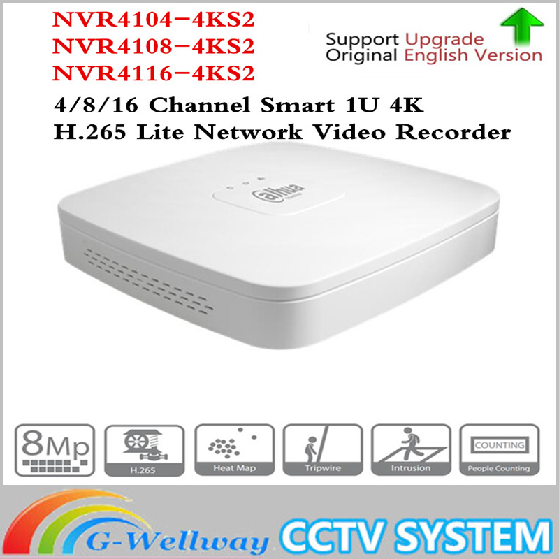 Original NVR4104/NVR4108 NVR4116 Smart 1U Mini NVR replaced by H.265 NVR4104-4ks2 NVR4108-4ks2 NVR4116-4ks2 8mp 4ch/8ch/16ch NVR 2014 new arrival dahua smart 1u nvr with p2p mini nvr nvr4104 nvr4108 nvr4116 free dhl shipping