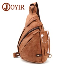 JOYIR High Quality Mens Genuine Leather Retro Chest Bag Casual Men Messenger Fashion Shoulder Travel Hiking