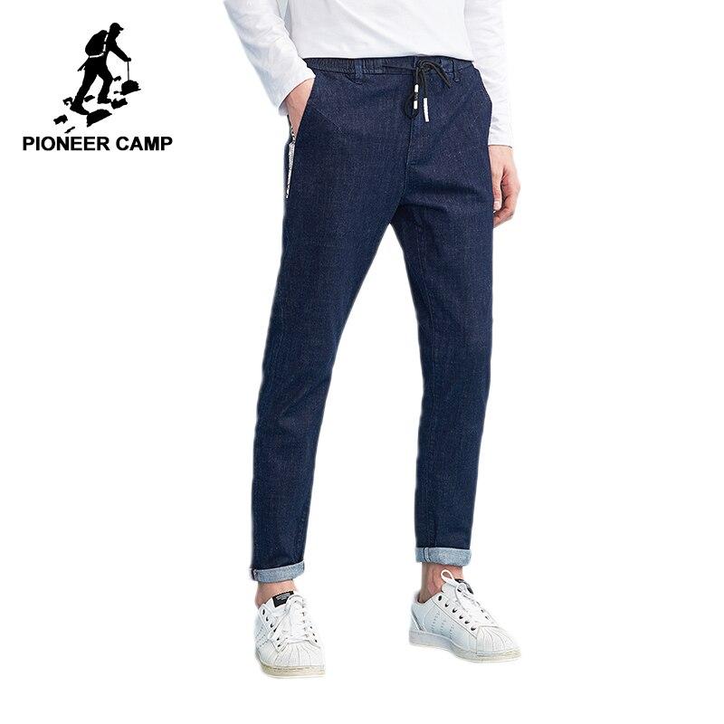 Пионерский лагерь Новые джинсы Штаны Мужская брендовая одежда дизайн лямки модные брюки для мужчин качество джинсы мужской синий ANZ803106