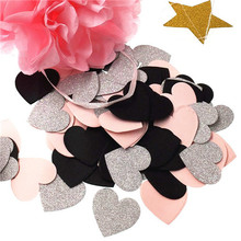 100Pcs/Lot 3cm Round/Star Multicolor Peach Paper Confetti Party Wedding Table Decoration Birthday Decorative Supplies