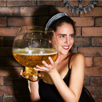 2000ml/4000ml Funny Big Huge Wine Glass For Party