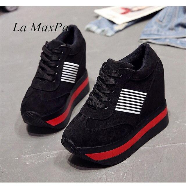 Yüksek Platform Sneakers Kadınlar Glitter yarım çizmeler Çorap Ayakkabı Kadın Sıcak Iç Tıknaz Sneakers Zapatos De MuJjer Vulkanize Ayakkabı
