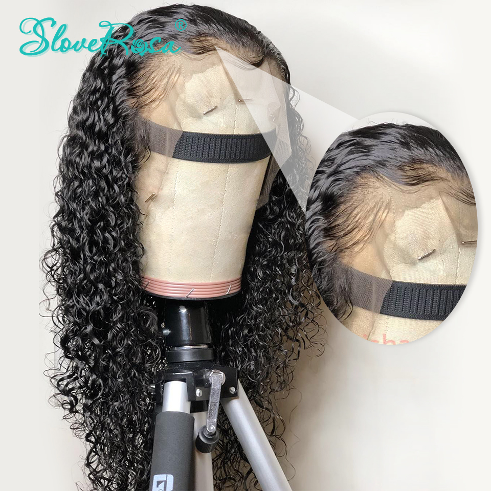 360 Lace Front Human Hair Wigs For Black Women 150%  180% Curly Peruvian Remy Hair Wig Pre Plucked With Baby Hair Slove Rosa-in 360 Lace Wigs from Hair Extensions & Wigs    1