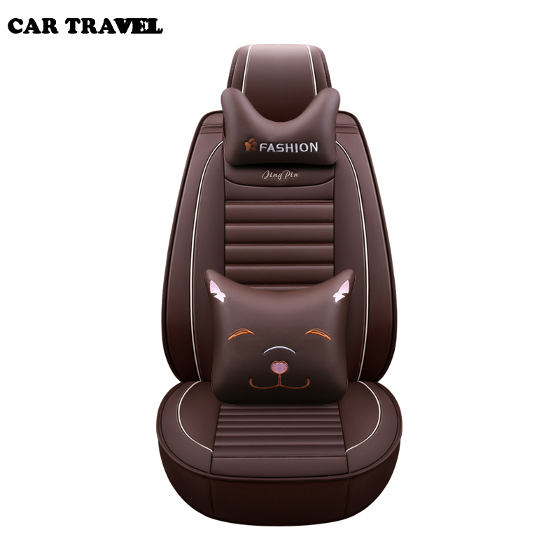 CAR TRAVEL pu Leather car seat cover for citroen c5 berlingo accessories c4 covers for vehicle seats car accessories