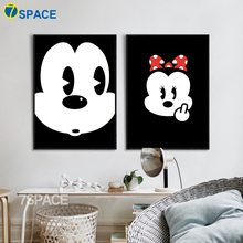 7-Space Mickey Mouse Canvas Painting Modern Cartoon Wall Art Posters And Prints Kids Room Living Decor Pictures No Frame