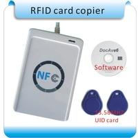 USB ACR122U 13 56MHZ NFC RFID Smart Card Read Writer 10 Pcs S50 Cards English SDK