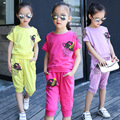 tracksuit kids summer little teenage girls clothes sets summer 2017 children clothing set t shirts tops shorts sports suits
