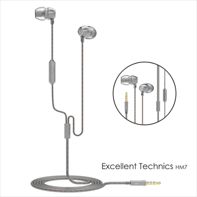 100% Original UiiSii HM7 Metal In-ear Earphone Super Bass DJ Stereo music Headset with Mic  3.5mm for iPhone /xiaomi Phone PC 4