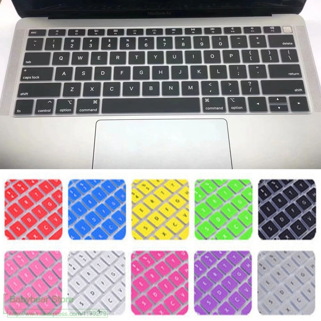 free shipping 5163c 4a0f4 US $1.99 |English US Silicone keyboard Cover for 2018 macbook air 13