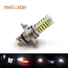 1Pcs Car H4 Led Headlight Bulbs 12W 66 SMD 6000K 500LM LED Fog Light Headlight Bulb