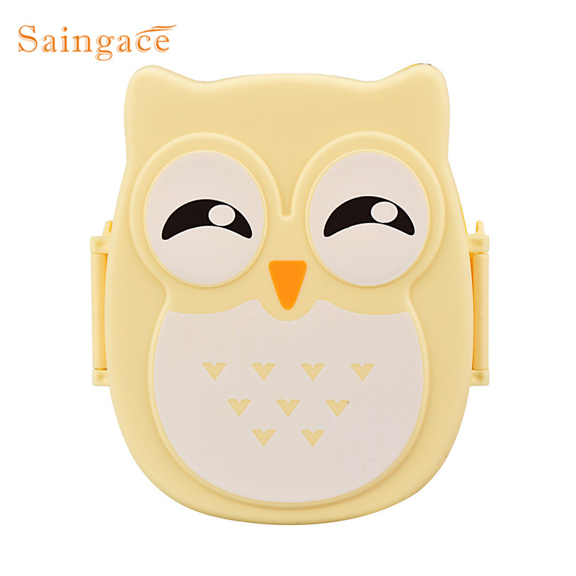 Saingace organizer Owl Bowl Food Container Dinnerware Sets Portable Bento Box G91017
