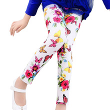High Quality Leggings  Printed Flower Butterfly Girls Pants