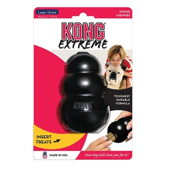 S-XXL KONG Extreme Dog Toy with Your Choice of Dog Treat