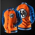 ГОРЯЧАЯ Японского Аниме Dragon Ball Гоку Varsity Куртка Осень Повседневная Толстовка с капюшоном Куртки Пальто Марка Бейсбол Куртка Детей