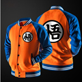 HOT Japanese Anime Dragon Ball Goku Varsity Jacket Autumn Casual Sweatshirt Hoodie Coat Jacket Brand Baseball Jacket Children