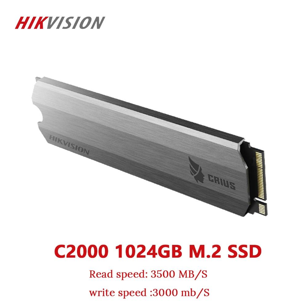 HIKVISION SSD M2 1 ТБ 1024 GB PCIe NVME C2000 для настольного ноутбука маленький сервер твердотельный накопитель PCI e Gen 3x4 10 лет гарантии