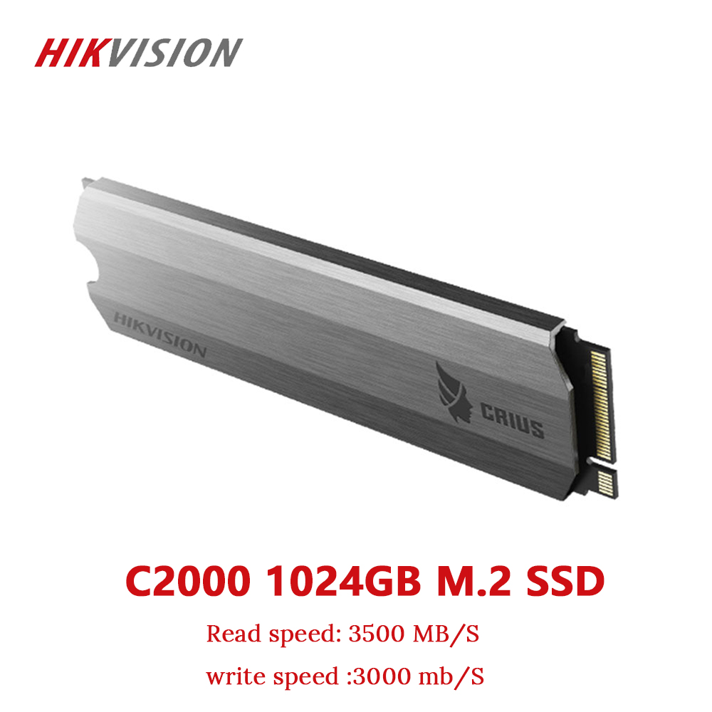 HIKVISION SSD M2 1TB 1024GB PCIe NVME C2000 For Desktop Laptop Small server Solid State Drive PCI-e Gen 3 x 4 10 year warranty