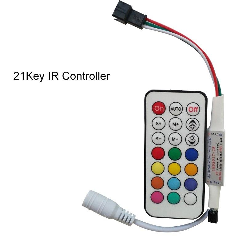 Mejor precio WS2811 WS2812B IR / RF / Bluetooth LED Controlador Dc5-24V Controlador de píxeles Led para tiras de LED