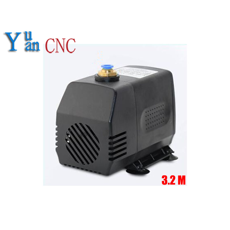 8mm water nozzle submersible water pump 75w 220V water pump for cnc router spindle motor Engraving machine pumps 3.2m 1pcs engraving machine tool cooling 75w 3 2m water pump for cnc router 2 2kw spindle motor and 1 5kw spindle motor